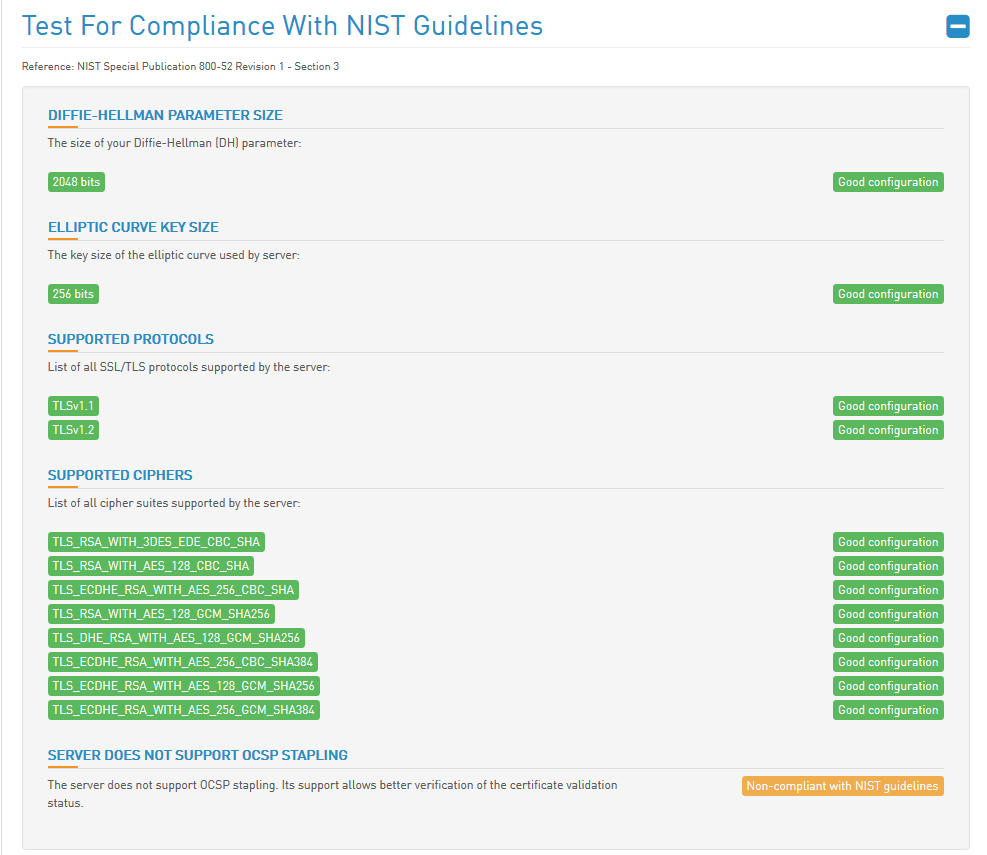 HTBridge Server Test Nist Guidelines neu