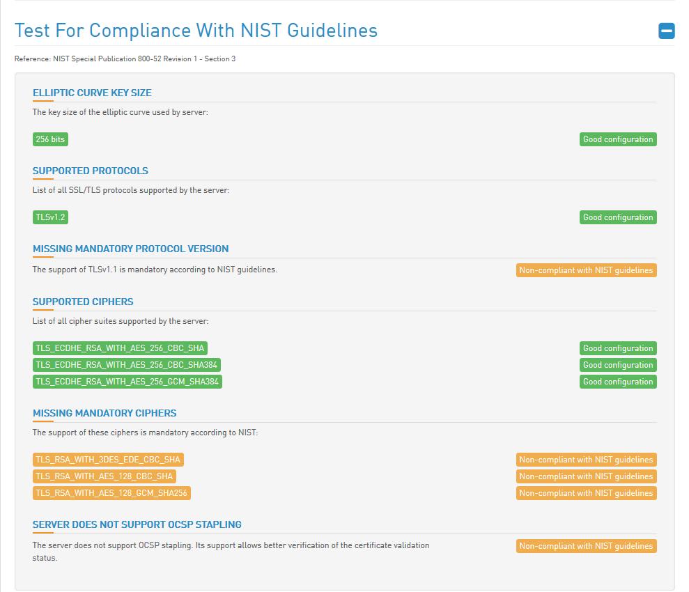 HTBridge Server Test Nist Guidelines