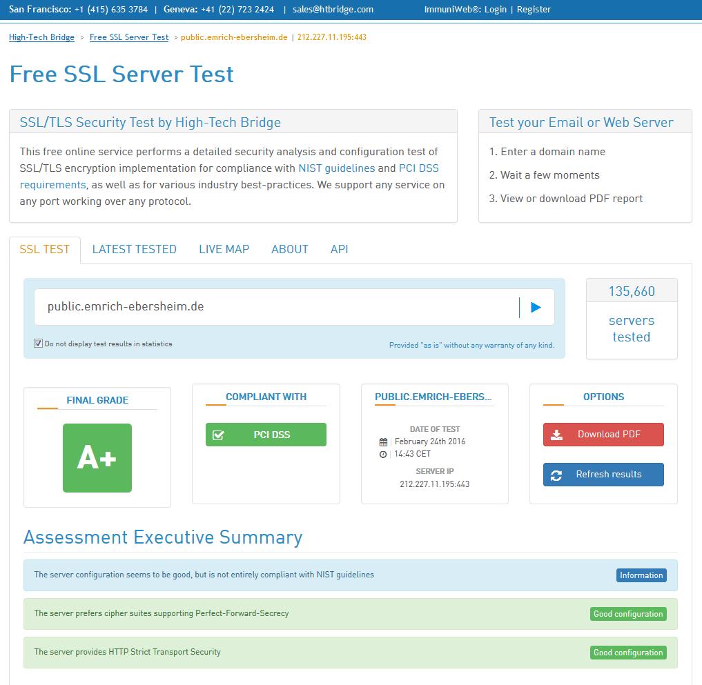 HTBridge Server Test Summary neu