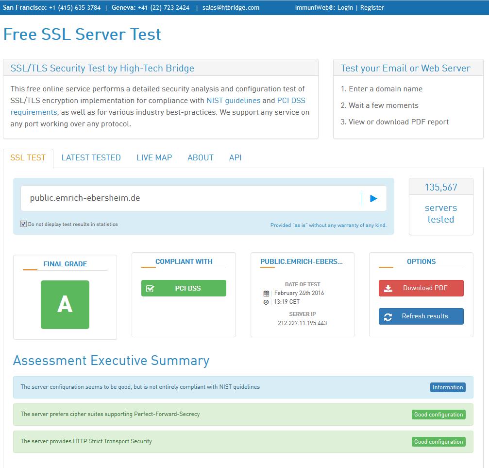 HTBridge Server Test Summary