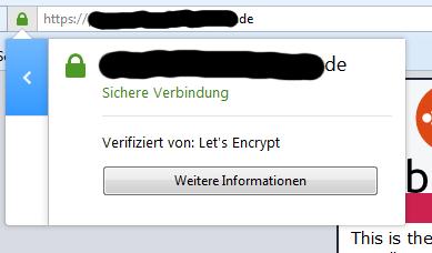 Verifiziert von Let's Encrypt