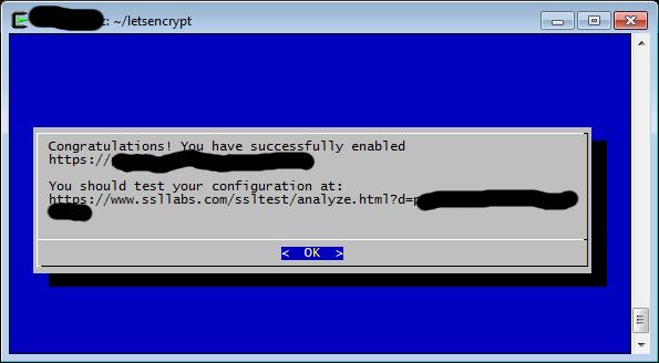 Let's Encrypt Success