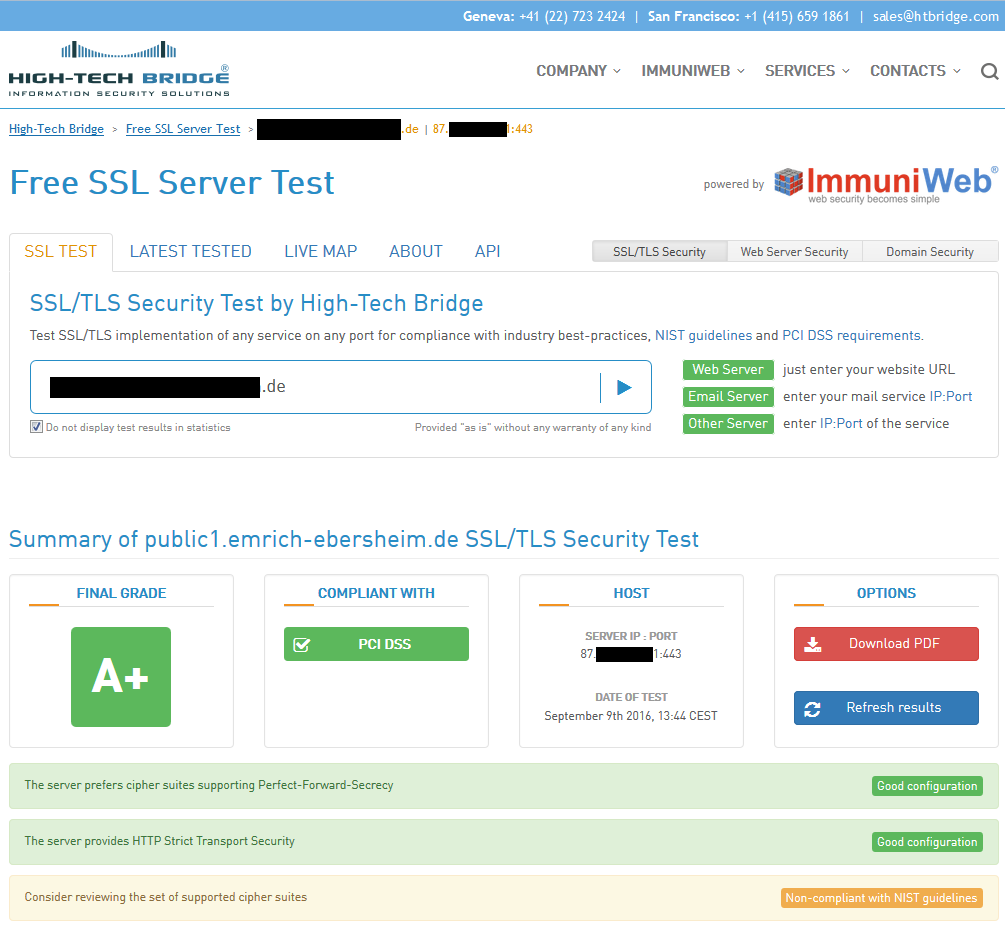 Free SSL Server Test, Summary