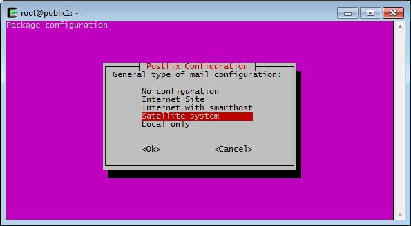 Postfix Configuration, Configuration Type