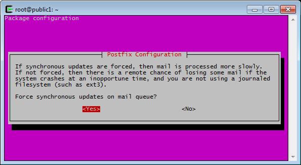 Postfix Configuration, Synchronous Updates