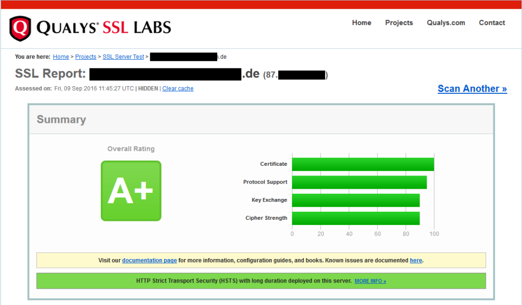 Qualys SSL Report, Summary