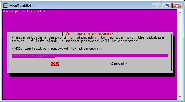 phpMyAdmin, phpmyadmin Passwort