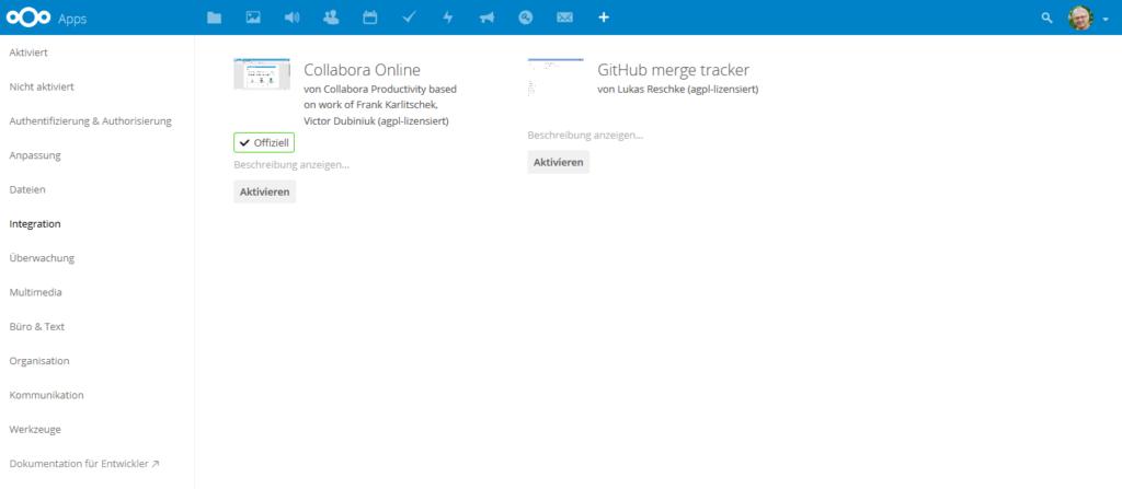 Nextcloud Apps Integration